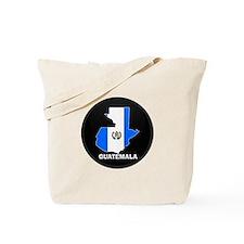 Flag Map of Guatemala Tote Bag