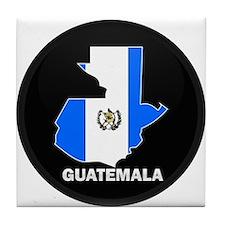 Flag Map of Guatemala Tile Coaster