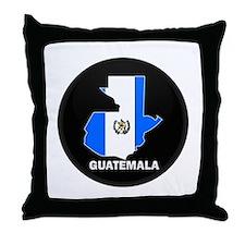 Flag Map of Guatemala Throw Pillow