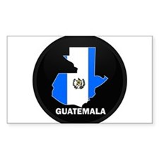 Flag Map of Guatemala Rectangle Decal