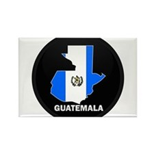 Flag Map of Guatemala Rectangle Magnet