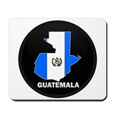 Flag Map of Guatemala Mousepad