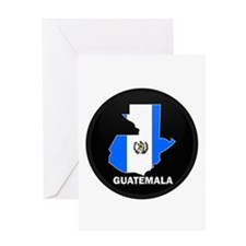 Flag Map of Guatemala Greeting Card