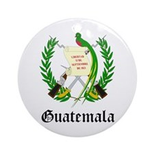 Guatemalan Coat of Arms Seal Ornament (Round)