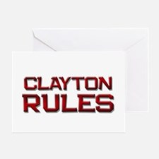 clayton rules Greeting Card