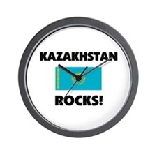 Kazakhstan Rocks Wall Clock