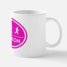 Triathlon Oval Pink Mug