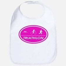 Triathlon Oval Pink Bib