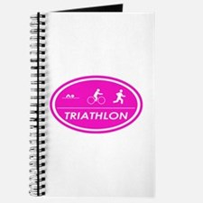 Triathlon Oval Pink Journal