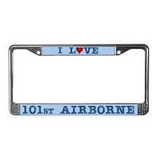 I Love 101st Airborne License Plate Frame
