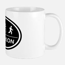 Triathlon Oval Black Mug