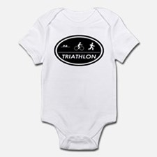 Triathlon Oval Black Infant Creeper