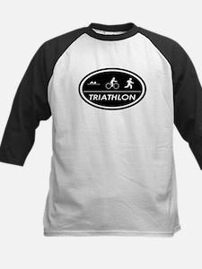 Triathlon Oval Black Tee