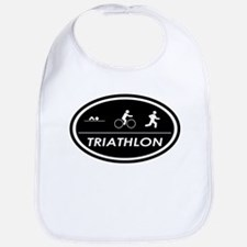 Triathlon Oval Black Bib