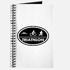Triathlon Oval Black Journal