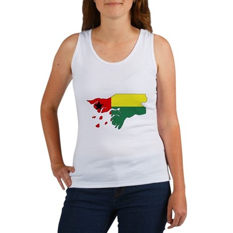 GUINEA BISSAU Flag Map Women's Tank Top