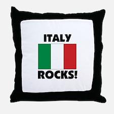 Italy Rocks Throw Pillow