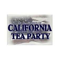 California Tea Party Rectangle Magnet