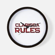 clarissa rules Wall Clock