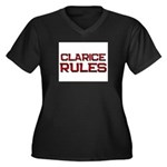 clarice rules Women's Plus Size V-Neck Dark T-Shir