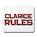 clarice rules Mousepad