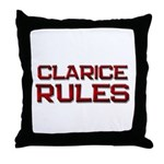 clarice rules Throw Pillow