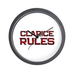 clarice rules Wall Clock
