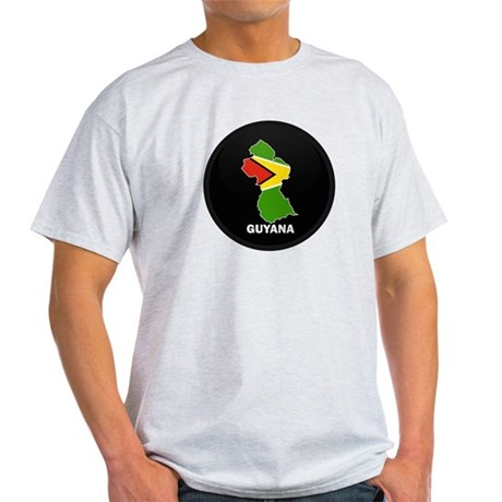 Flag Map of guyana Light T-Shirt