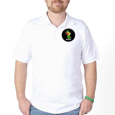 Flag Map of guyana Golf Shirt