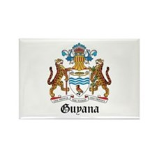 Guyanese Coat of Arms Seal Rectangle Magnet