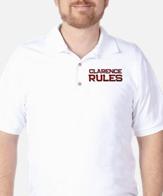 clarence rules Golf Shirt