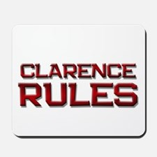 clarence rules Mousepad