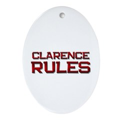 clarence rules Oval Ornament