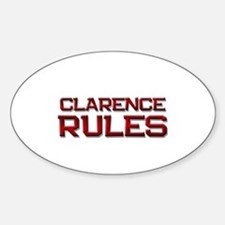 clarence rules Oval Bumper Stickers