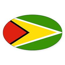 guyana Flag Oval Decal