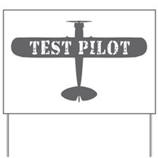 Aviation Test Pilot Yard Sign