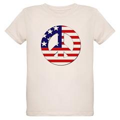 USA Flag Peace Sign T-Shirt
