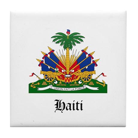 Haitian Coat of Arms Seal Tile Coaster