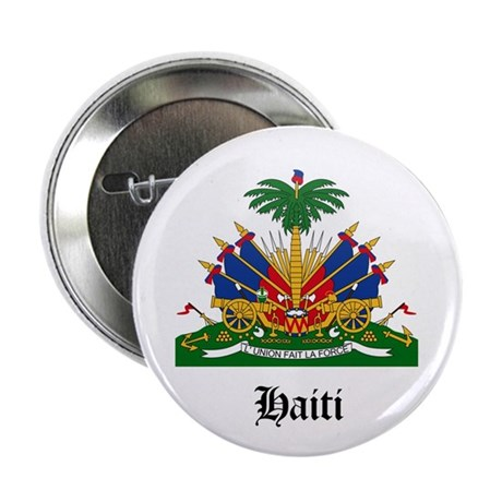 """Haitian Coat of Arms Seal 2.25"""" Button"""