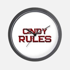 cindy rules Wall Clock