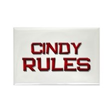 cindy rules Rectangle Magnet