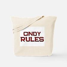 cindy rules Tote Bag