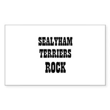 SEALYHAM TERRIERS ROCK Rectangle Decal
