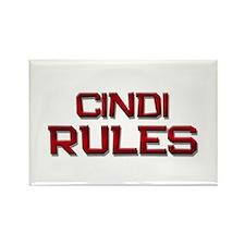 cindi rules Rectangle Magnet