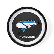 Flag Map of Honduras Wall Clock