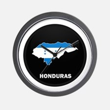 Flag Map of Honduras Wall Clock