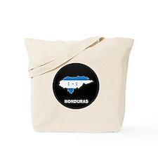 Flag Map of Honduras Tote Bag
