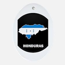 Flag Map of Honduras Oval Ornament
