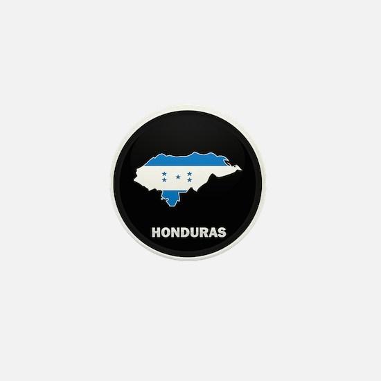 Flag Map of Honduras Mini Button