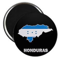 Flag Map of Honduras Magnet